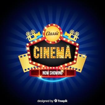 Fundo de cinema clássico