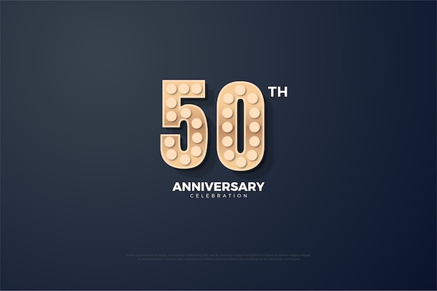 Fundo de cinquenta anos com números de efeito de luz