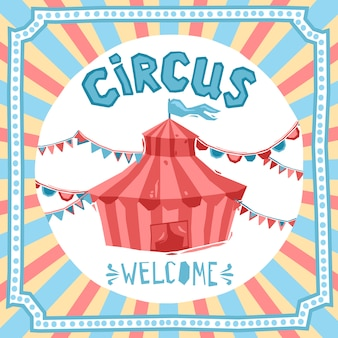 Fundo de circo retrô