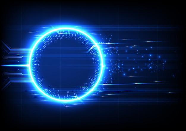 Fundo de circuito de tecnologia de luz