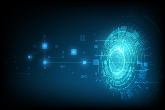 Fundo de circuito digital de esfera abstrata tech