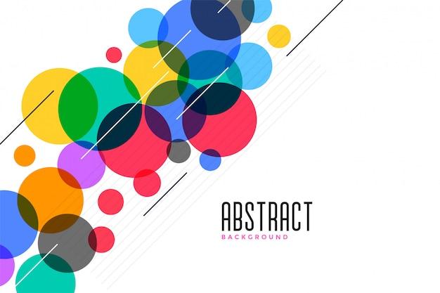 Fundo de círculos coloridos com linhas