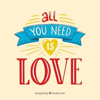 Fundo de citação de amor