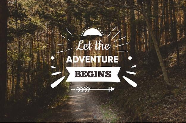 Fundo de citação de aventura positiva
