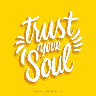Fundo de citação de motivação na cor amarela