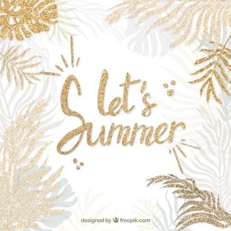 Fundo de citação de verão elegante