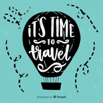 Fundo de citação de viagens motivacionais