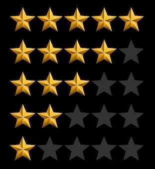 Fundo de classificação de estrelas.