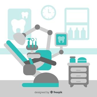Fundo de clínica dentária plana