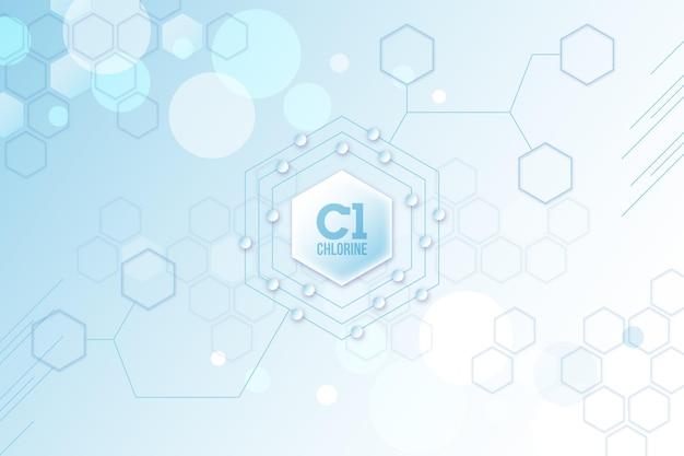 Fundo de cloro com formas geométricas