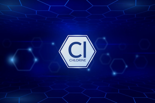 Fundo de cloro em tons de azul escuro