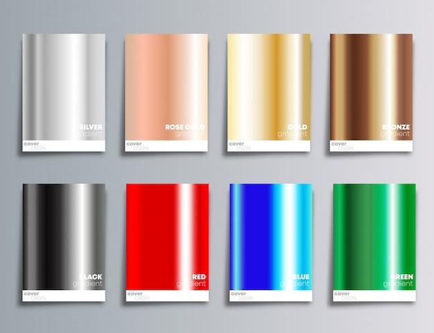 Fundo de cobertura de cor gradiente