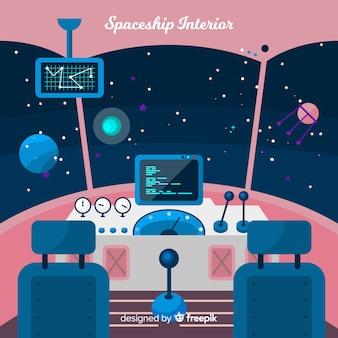 Fundo de cockpit de nave espacial