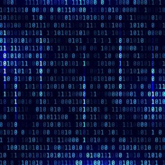 Fundo de código binário. azul. vetor