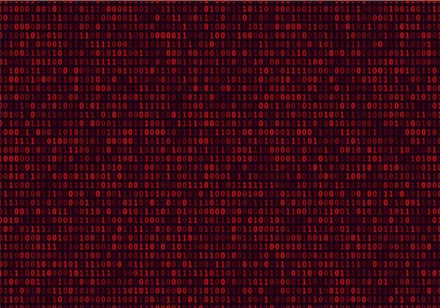 Fundo de código binário de streaming