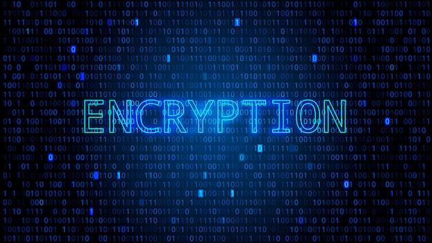 Fundo de código binário digital com números destacados. conceito de criptografia