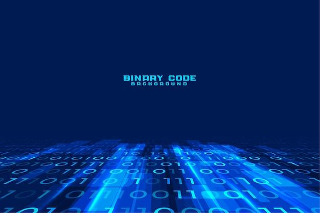 Fundo de código binário digital de fluxo de dados