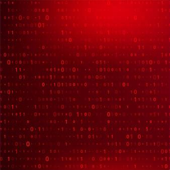 Fundo de código binário digital