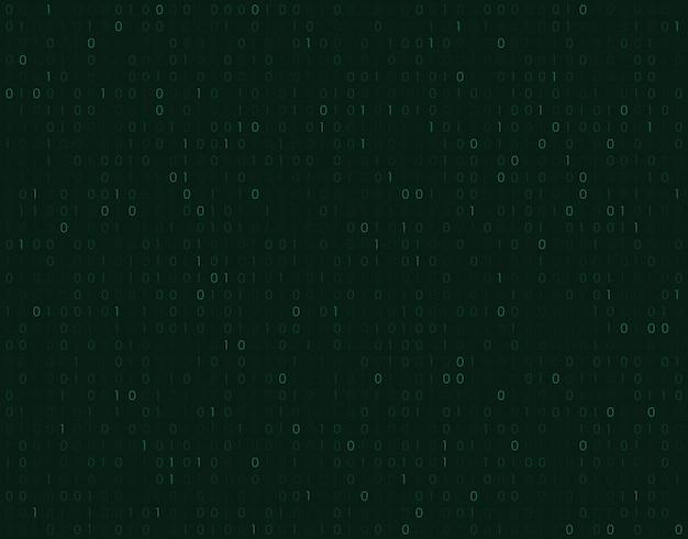 Fundo de código de matriz binária.