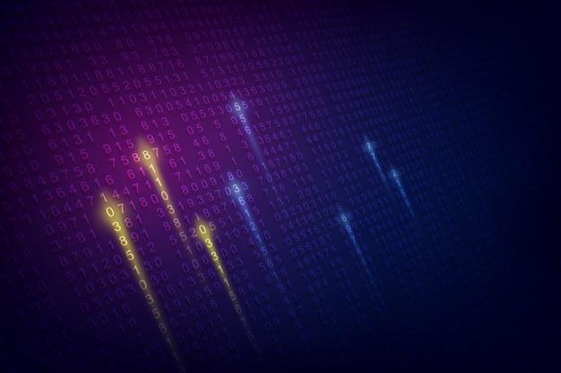 Fundo de código digital binare