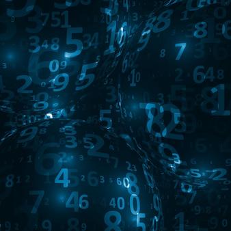 Fundo de código digital