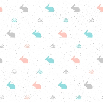Fundo de coelho. coelho abstrato cinza, azul e rosa para cartão, convite, álbum, álbum de recortes, papel de embrulho de feriado da páscoa, tecido têxtil, vestuário, etc. tema de animais de fazenda.