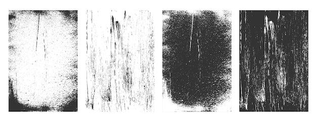 Fundo de coleção de quadros de textura retrô grunge abstrata