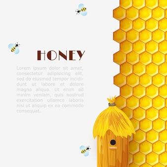 Fundo de colméia de mel