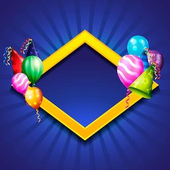 Fundo de comemoração de aniversário, balão de aniversário