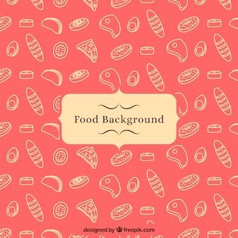 Fundo de comida com padrão