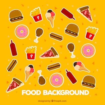 Fundo de comida deliciosa