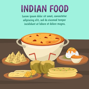 Fundo de comida indiana
