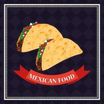 Fundo de comida mexicana