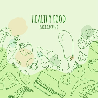 Fundo de comida saudável com vegetais