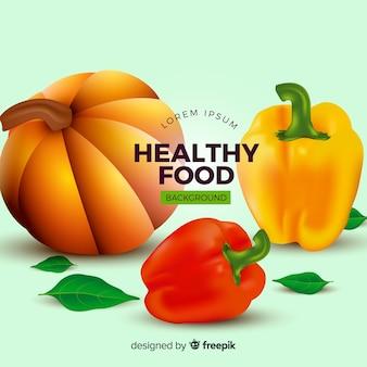 Fundo de comida saudável realista