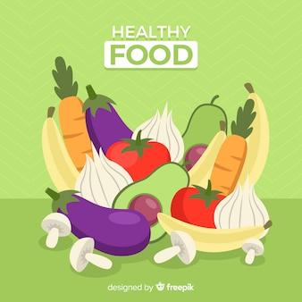 Fundo de comida saudável