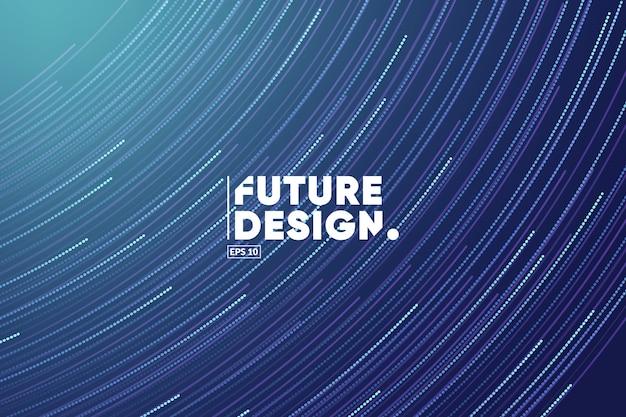 Fundo de composição de linhas de gradiente. modelo de tema futuro, tecnologia, big data, ciência.