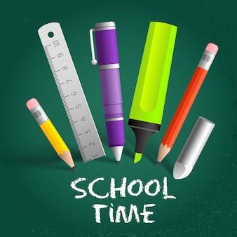 Fundo de composição do tempo escolar