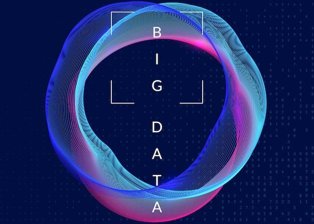 Fundo de computação quântica. tecnologia para big data, visualização, inteligência artificial e aprendizado profundo. modelo de design para o conceito de inteligência. pano de fundo abstrato da computação quântica.