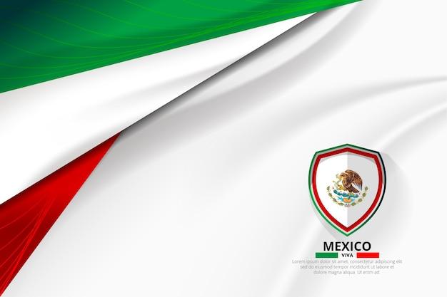 Fundo de conceito de bandeira do méxico