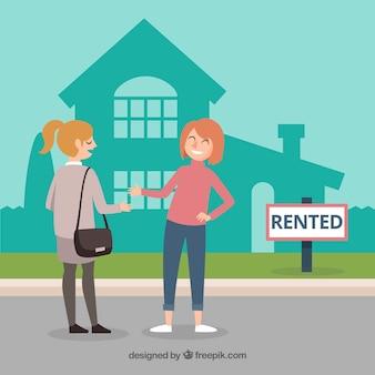 Fundo de conceito de casa alugada