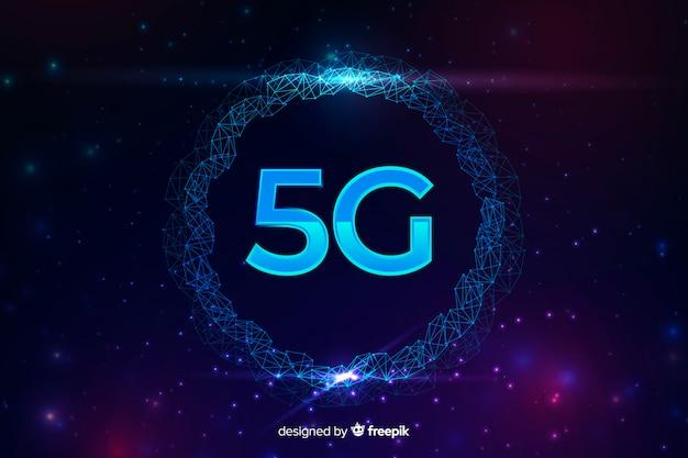 Fundo de conceito de conexão de internet 5g
