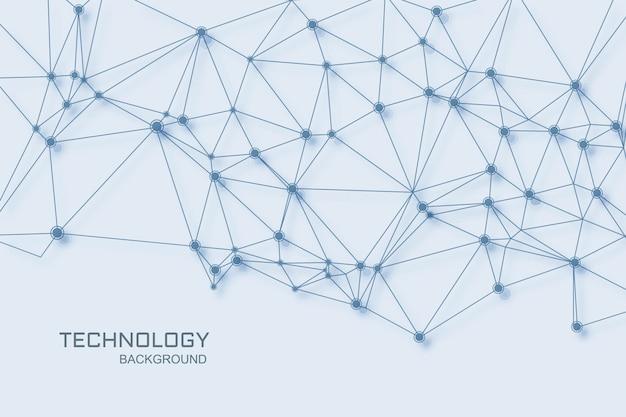 Fundo de conceito de conexão de polígono de tecnologia digital