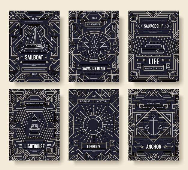 Fundo de conceito de convite de contorno de viagem. páginas modernas de qualidade de layout.