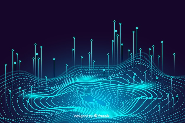 Fundo de conceito de dados abstratos digitais