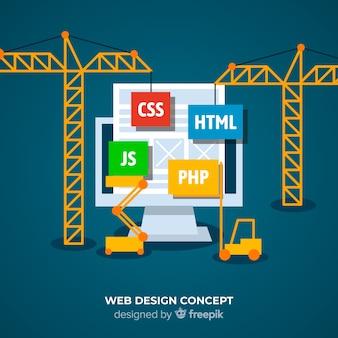Fundo de conceito de design web
