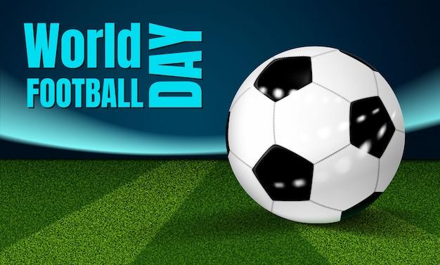 Fundo de conceito de dia de futebol