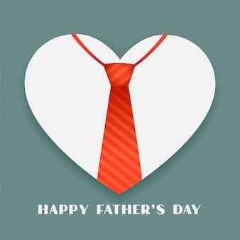 Fundo de conceito de dia dos pais com gravata e coração