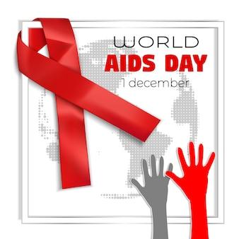 Fundo de conceito de dia mundial da aids