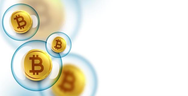 Fundo de conceito de estouro de bolha de bitcoin